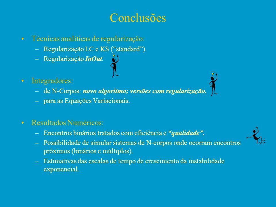 Conclusões Técnicas analíticas de regularização: Integradores: