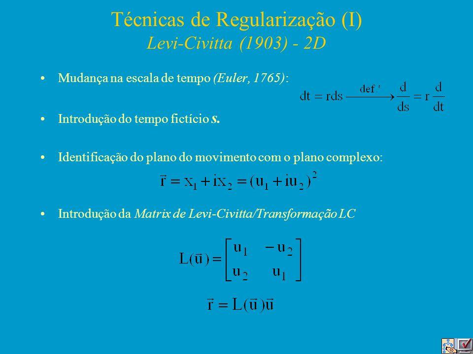 Técnicas de Regularização (I) Levi-Civitta (1903) - 2D