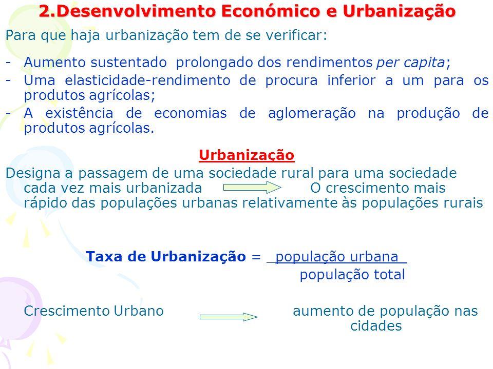 2.Desenvolvimento Económico e Urbanização