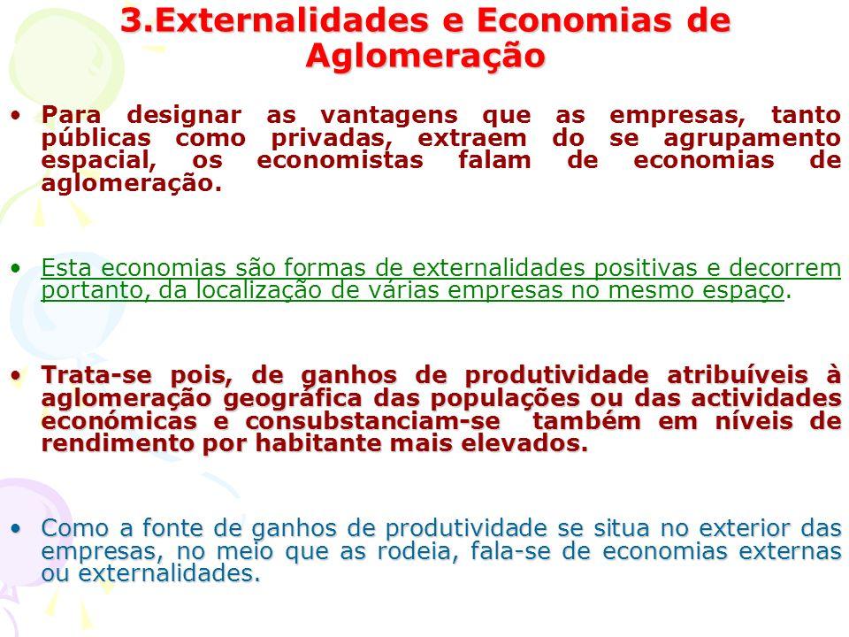 3.Externalidades e Economias de Aglomeração