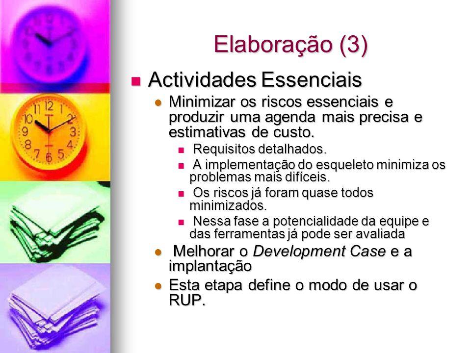 Elaboração (3) Actividades Essenciais