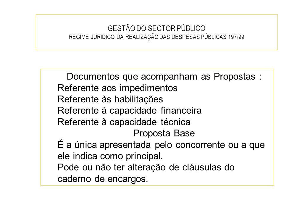 Documentos que acompanham as Propostas :