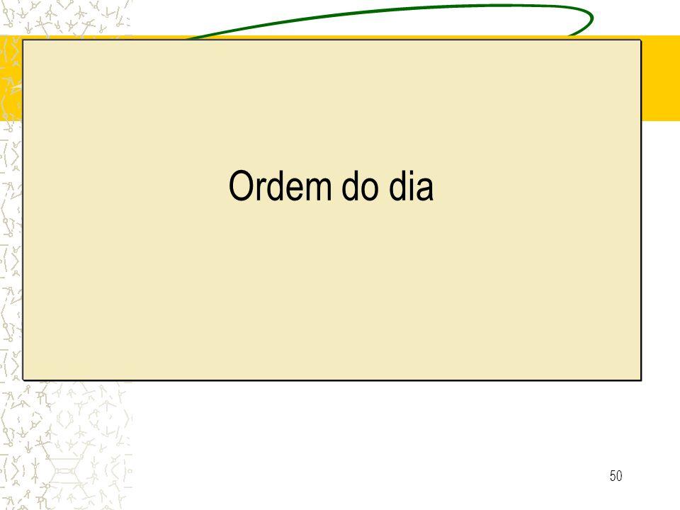 Ordem do dia