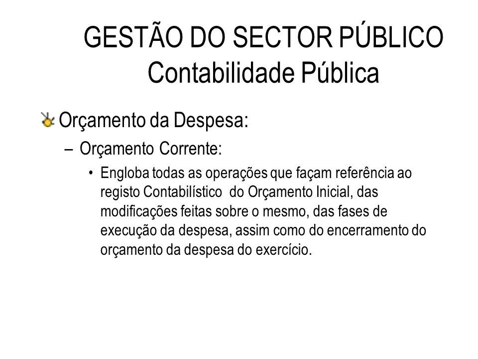 GESTÃO DO SECTOR PÚBLICO Contabilidade Pública