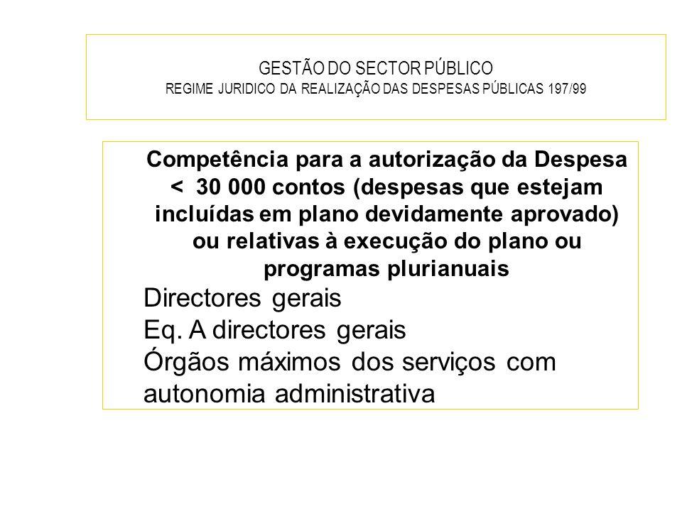 Órgãos máximos dos serviços com autonomia administrativa