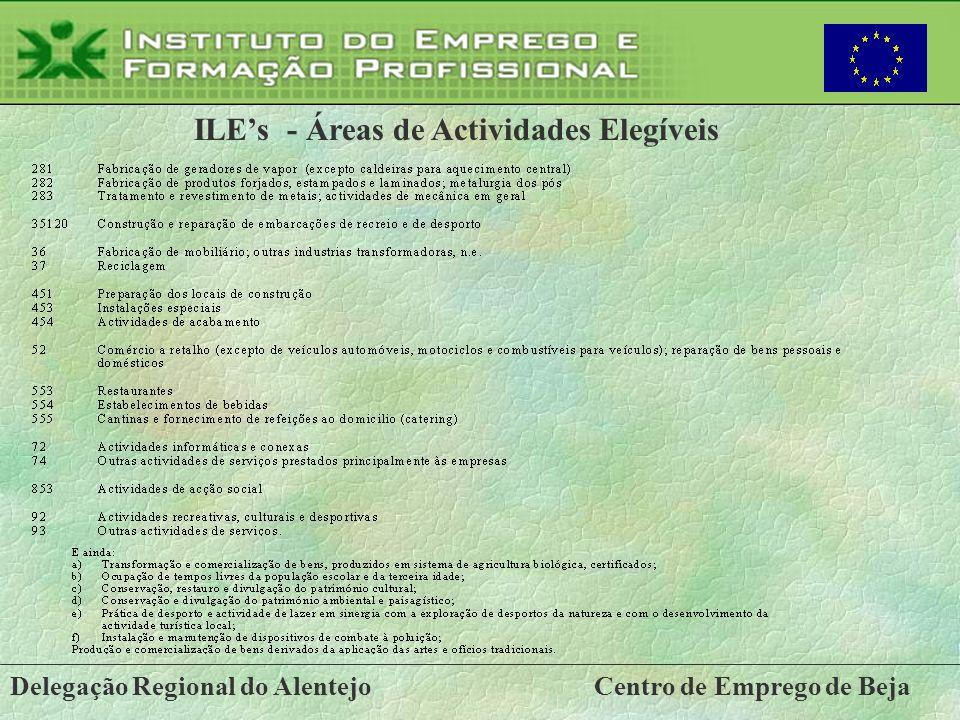 ILE's - Áreas de Actividades Elegíveis
