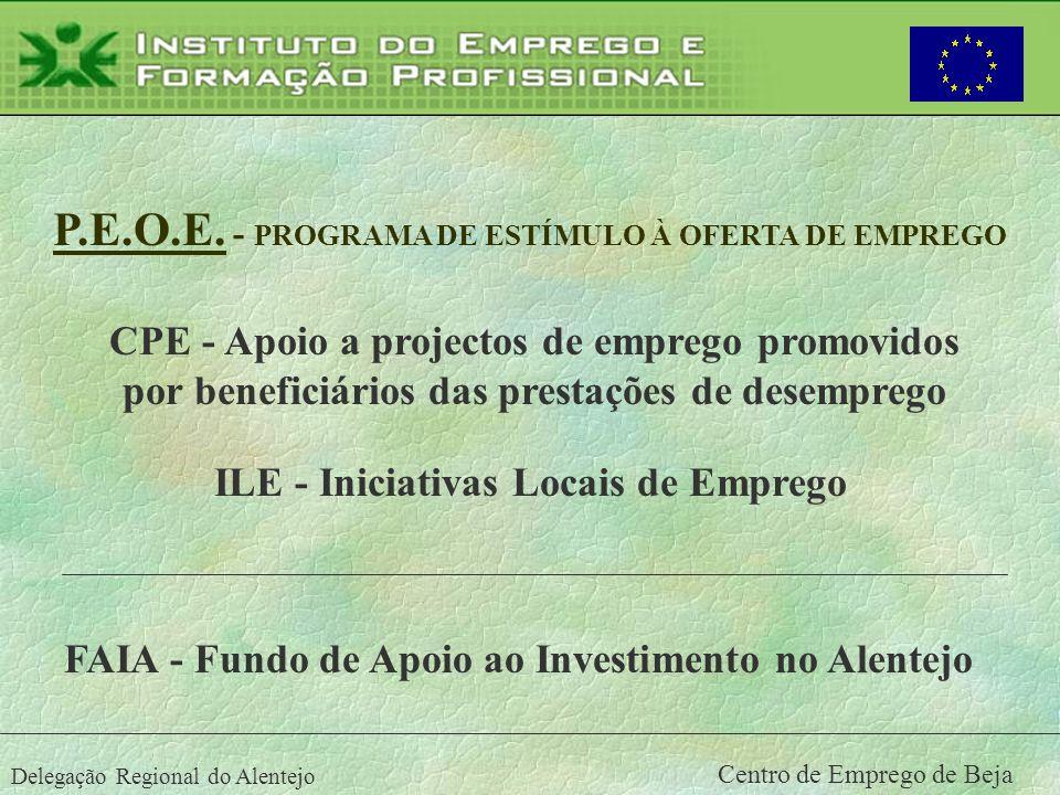 P.E.O.E. - PROGRAMA DE ESTÍMULO À OFERTA DE EMPREGO