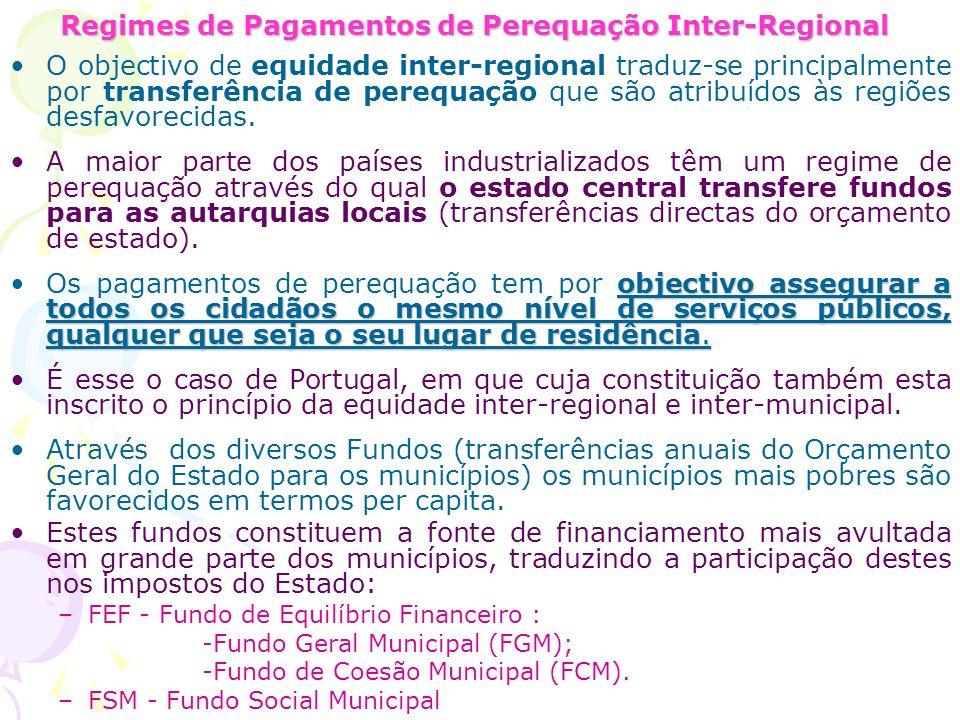 Regimes de Pagamentos de Perequação Inter-Regional