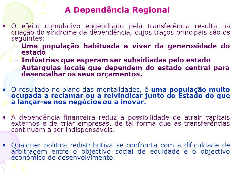 A Dependência Regional