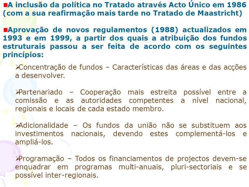 A inclusão da política no Tratado através Acto Único em 1986 (com a sua reafirmação mais tarde no Tratado de Maastricht)