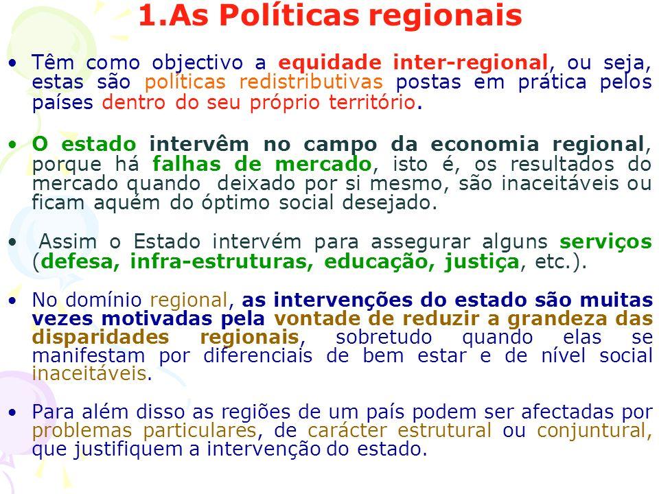 1.As Políticas regionais