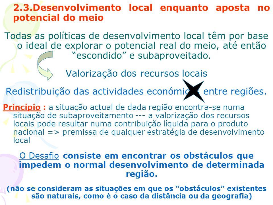 2.3.Desenvolvimento local enquanto aposta no potencial do meio