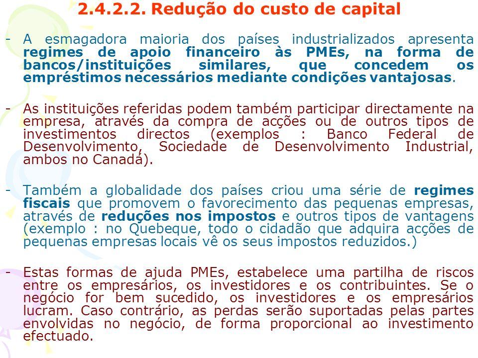 2.4.2.2. Redução do custo de capital