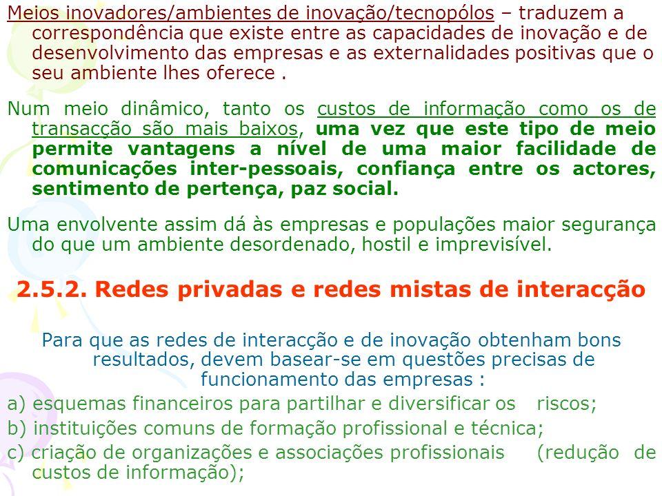 2.5.2. Redes privadas e redes mistas de interacção