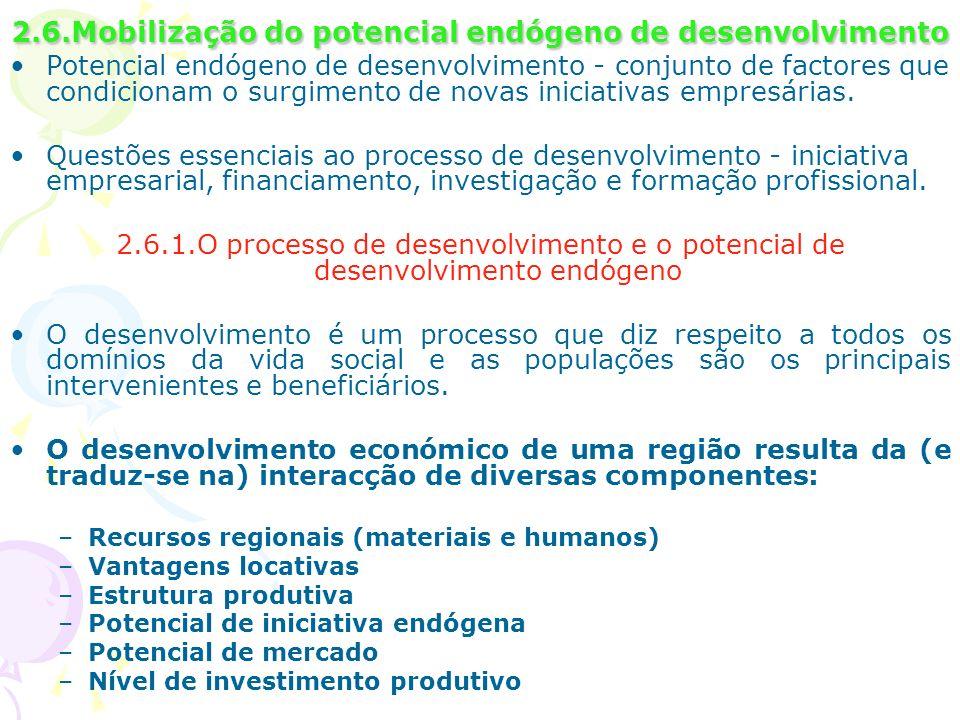 2.6.Mobilização do potencial endógeno de desenvolvimento