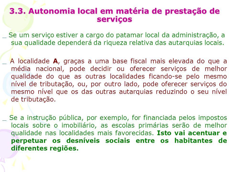 3.3. Autonomia local em matéria de prestação de serviços