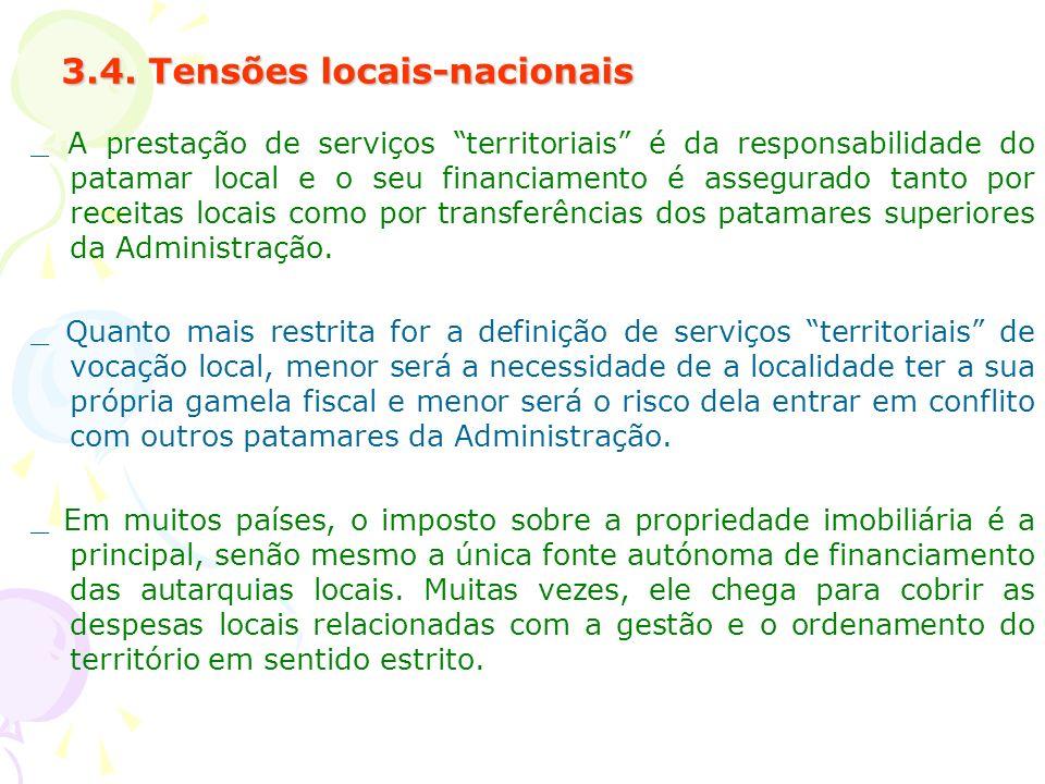 3.4. Tensões locais-nacionais
