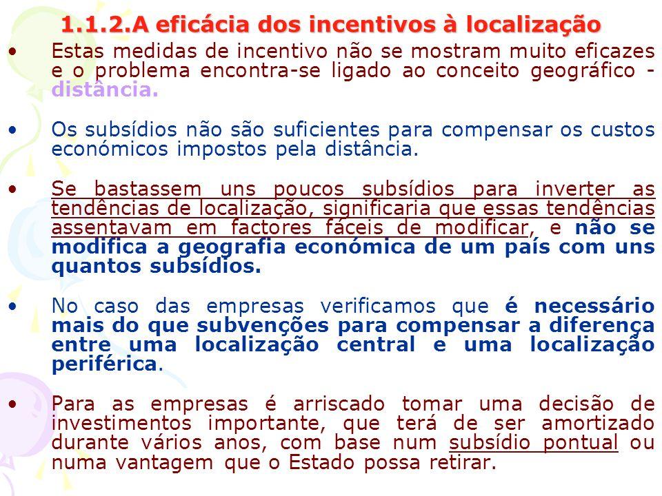 1.1.2.A eficácia dos incentivos à localização