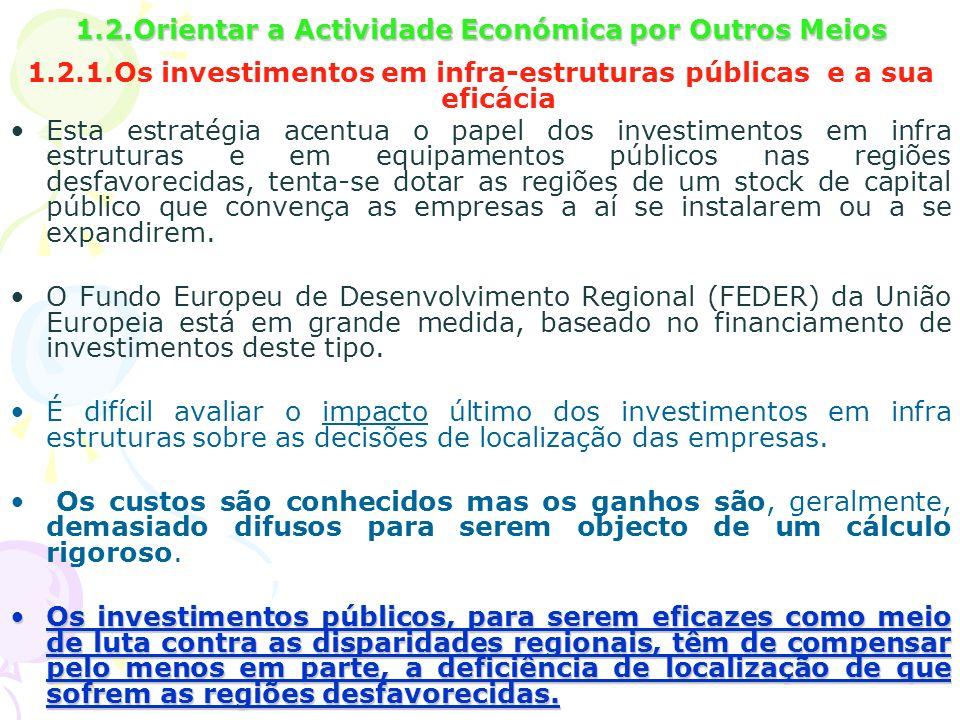 1.2.Orientar a Actividade Económica por Outros Meios
