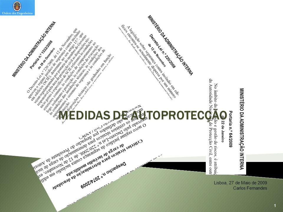 MEDIDAS DE AUTOPROTECÇÃO