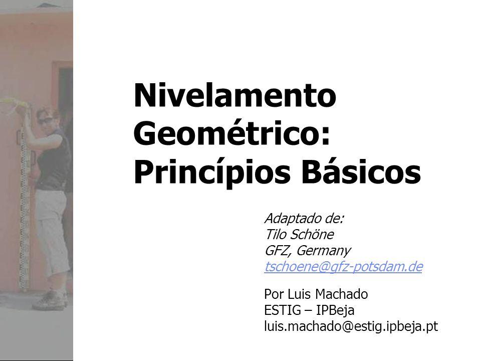 Nivelamento Geométrico: Princípios Básicos