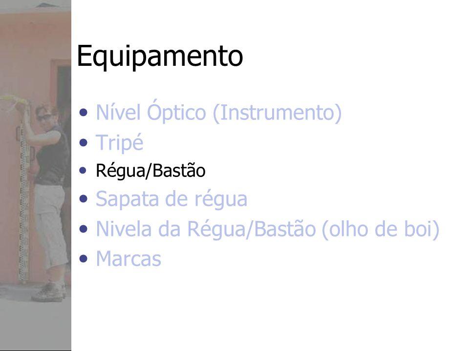 Equipamento Nível Óptico (Instrumento) Tripé Sapata de régua