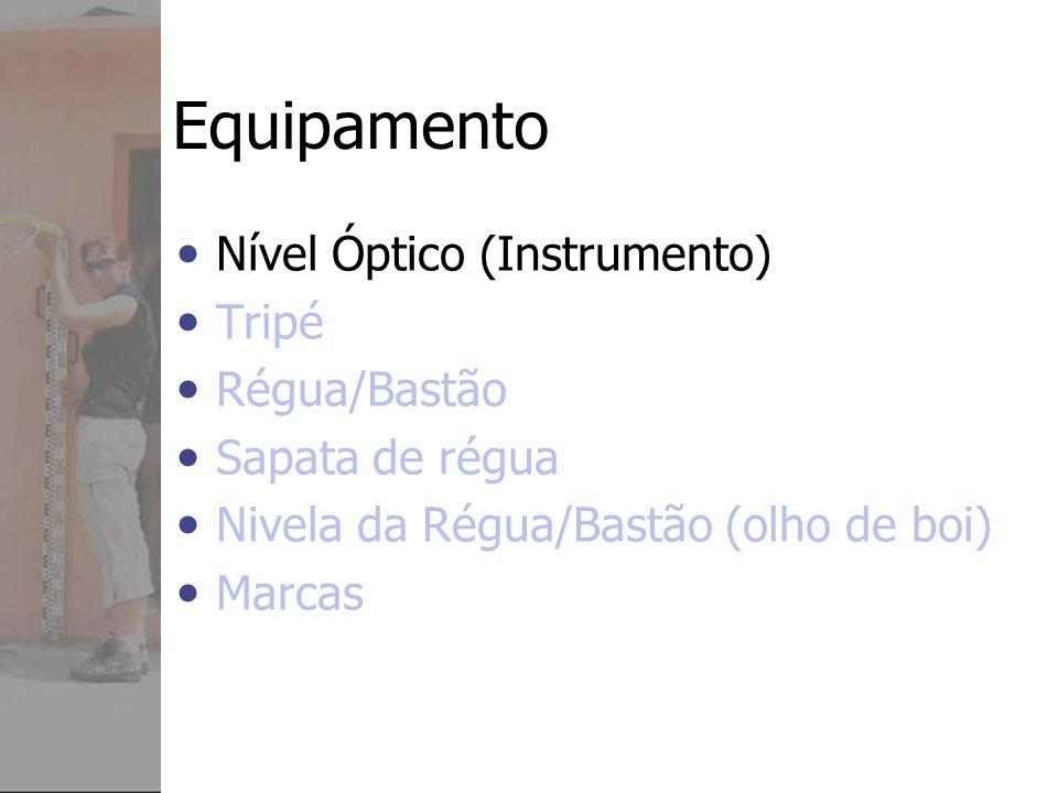 Equipamento Nível Óptico (Instrumento) Tripé Régua/Bastão