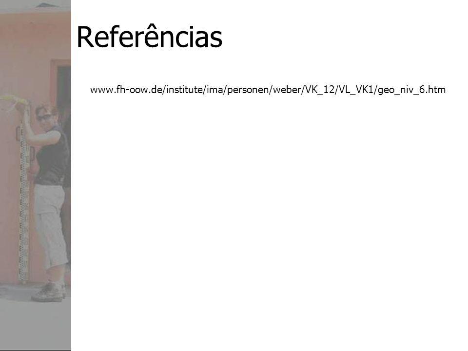Referências www.fh-oow.de/institute/ima/personen/weber/VK_12/VL_VK1/geo_niv_6.htm