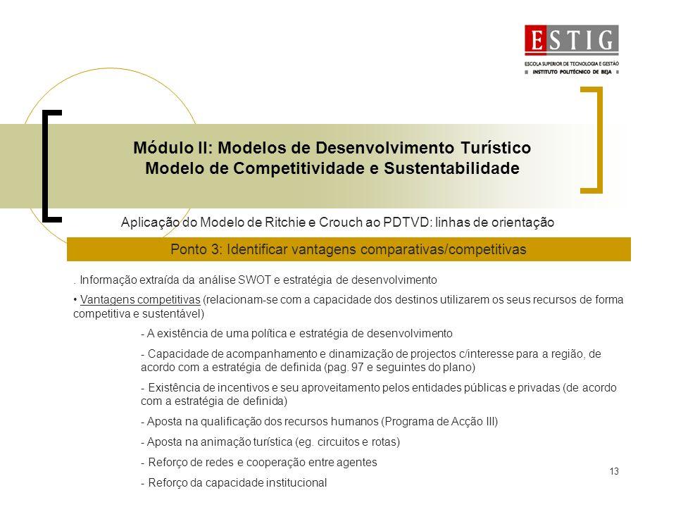 Ponto 3: Identificar vantagens comparativas/competitivas