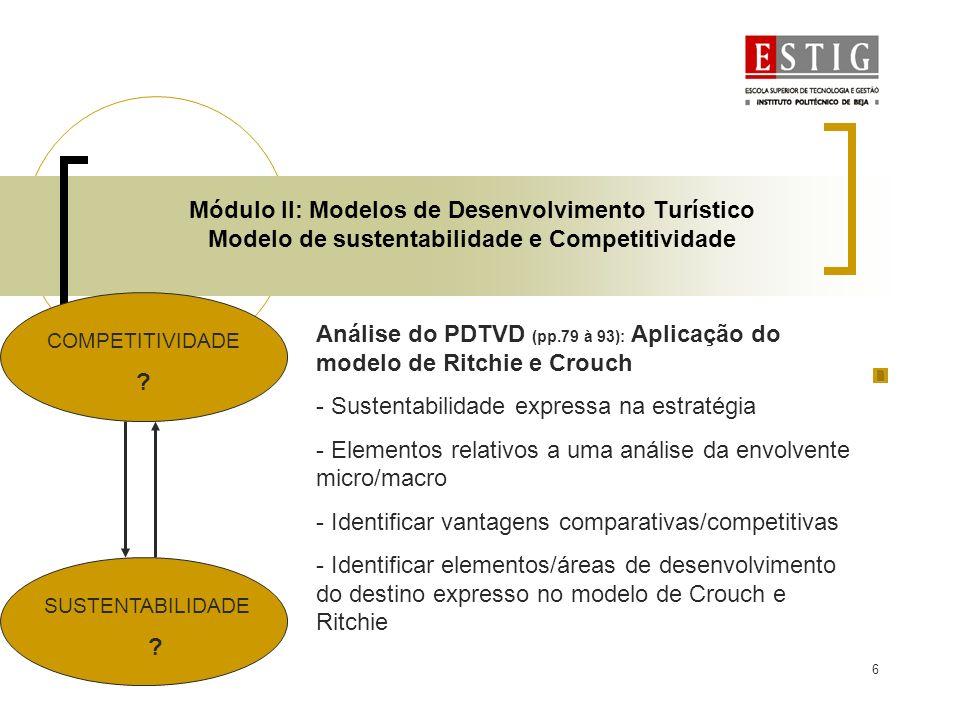Análise do PDTVD (pp.79 à 93): Aplicação do modelo de Ritchie e Crouch