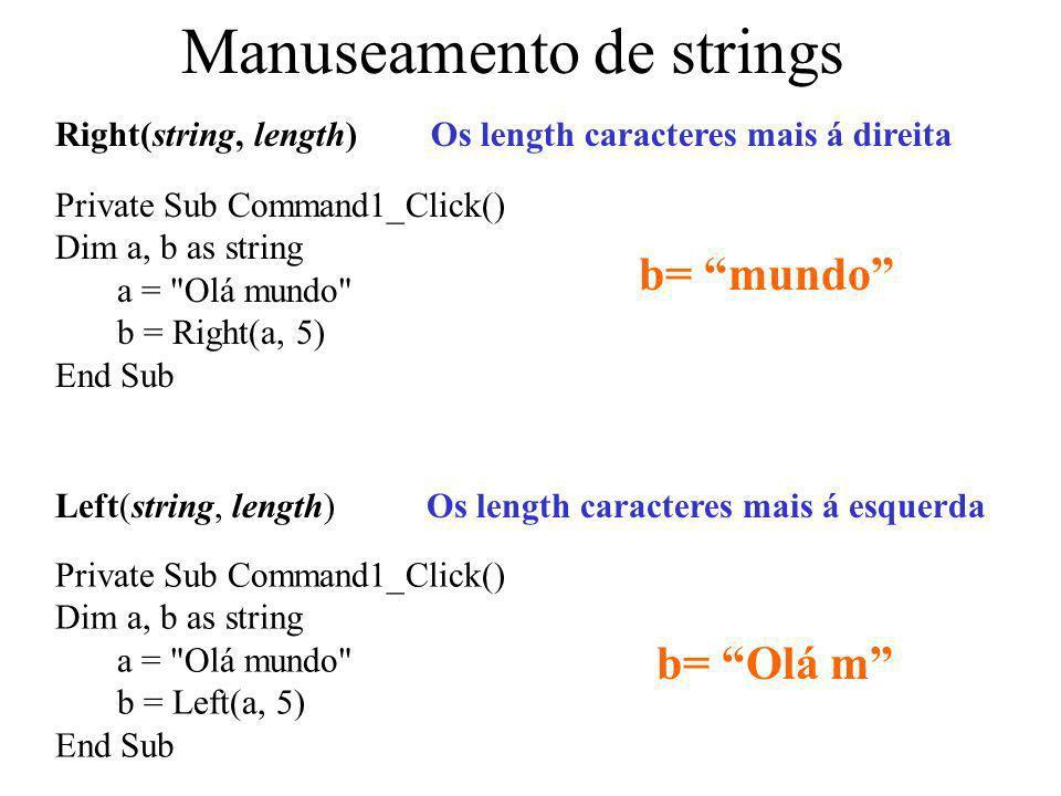 Manuseamento de strings