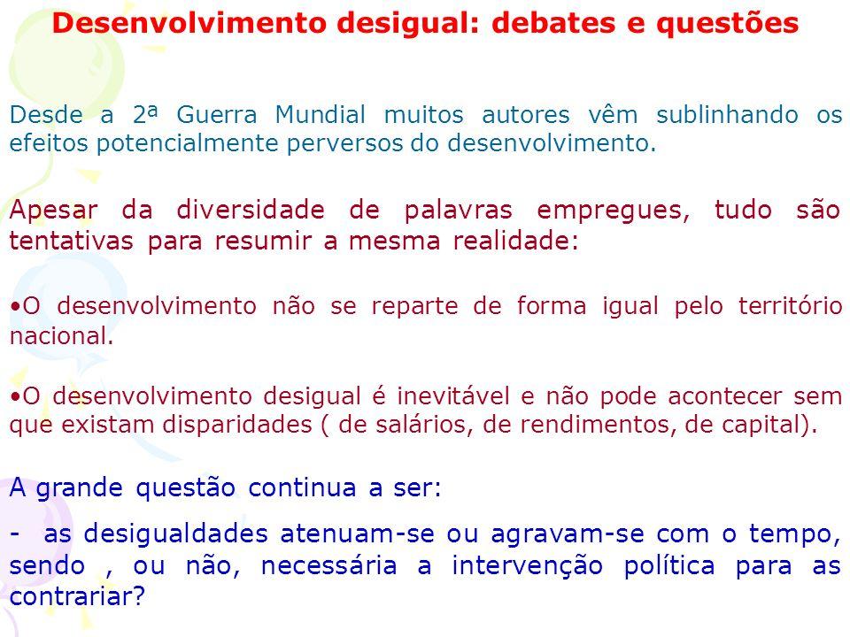 Desenvolvimento desigual: debates e questões