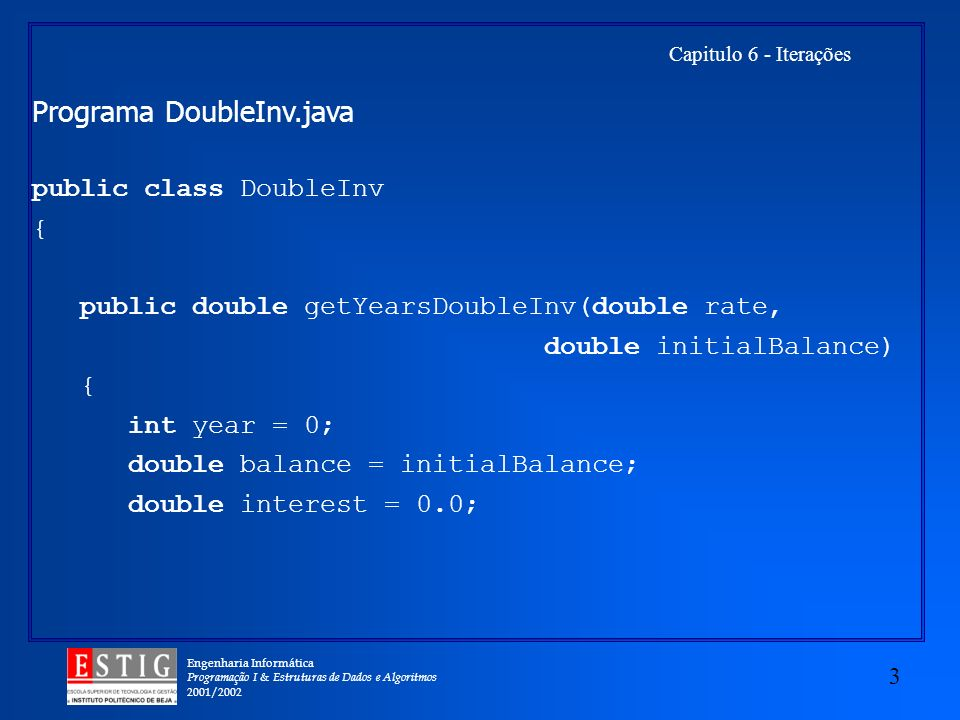 Programa DoubleInv.java