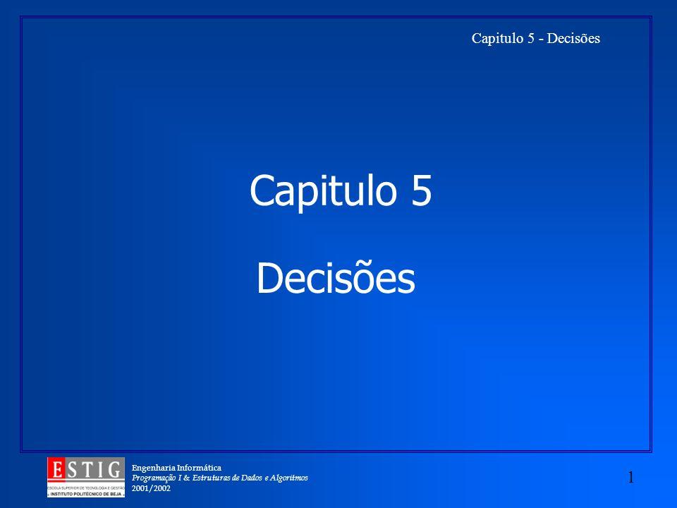 Capitulo 5 Decisões