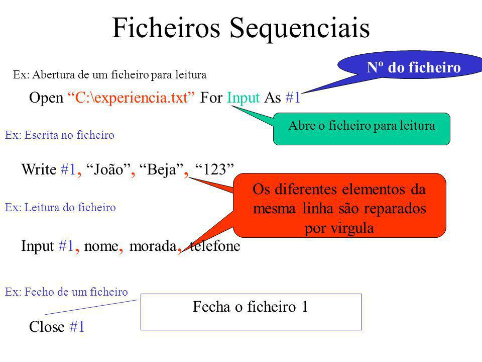 Ficheiros Sequenciais