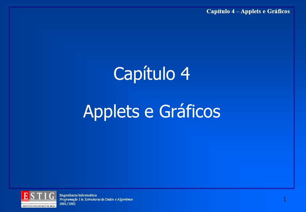 Capítulo 4 Applets e Gráficos