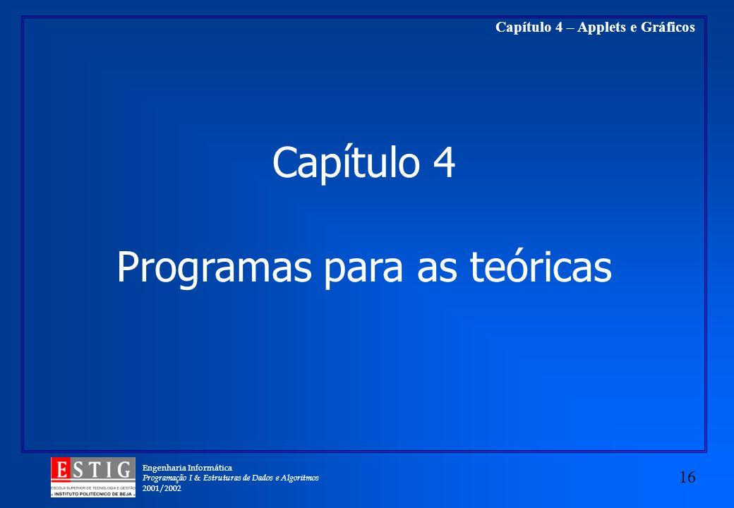 Programas para as teóricas