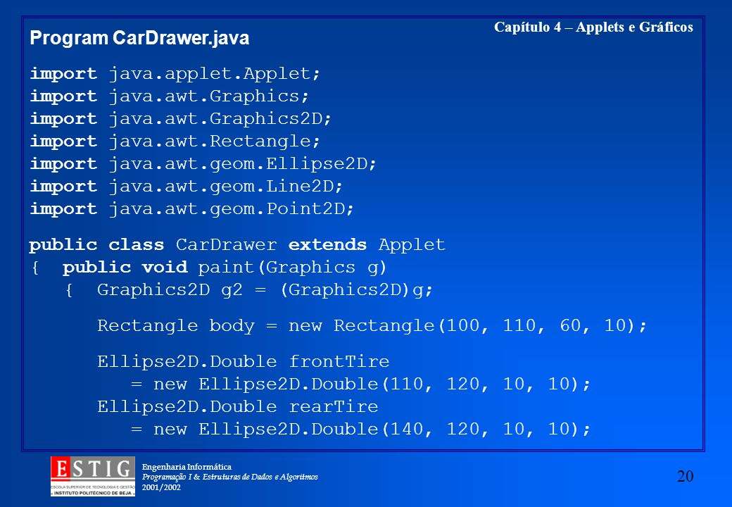 Program CarDrawer.java