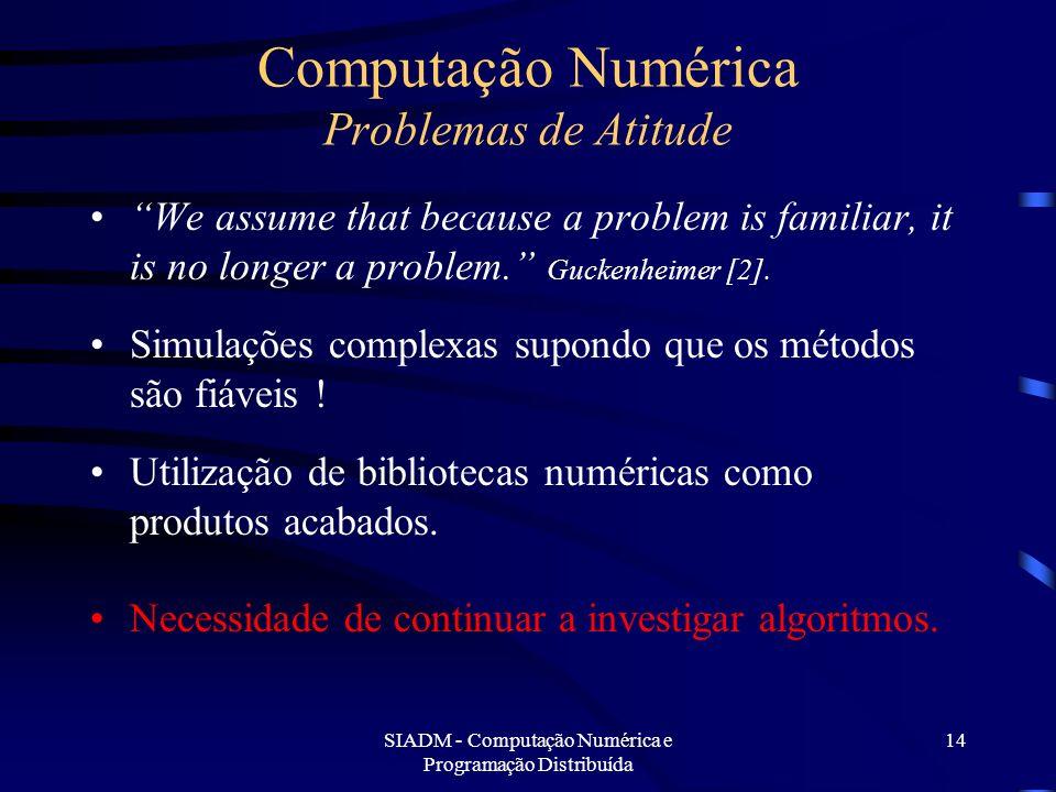 Computação Numérica Problemas de Atitude