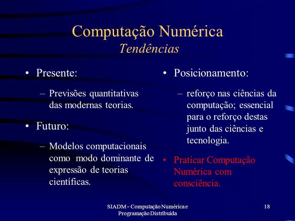Computação Numérica Tendências