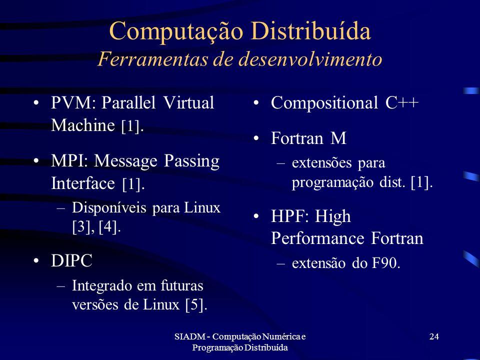 Computação Distribuída Ferramentas de desenvolvimento