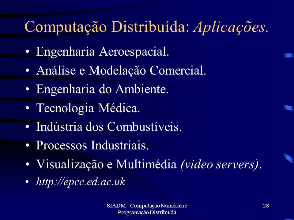 Computação Distribuída: Aplicações.