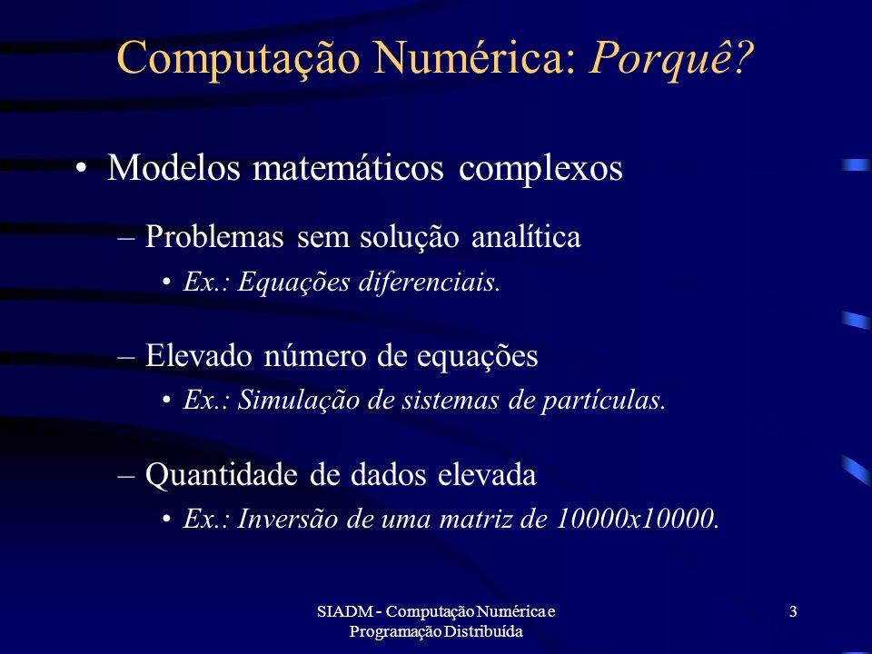 Computação Numérica: Porquê