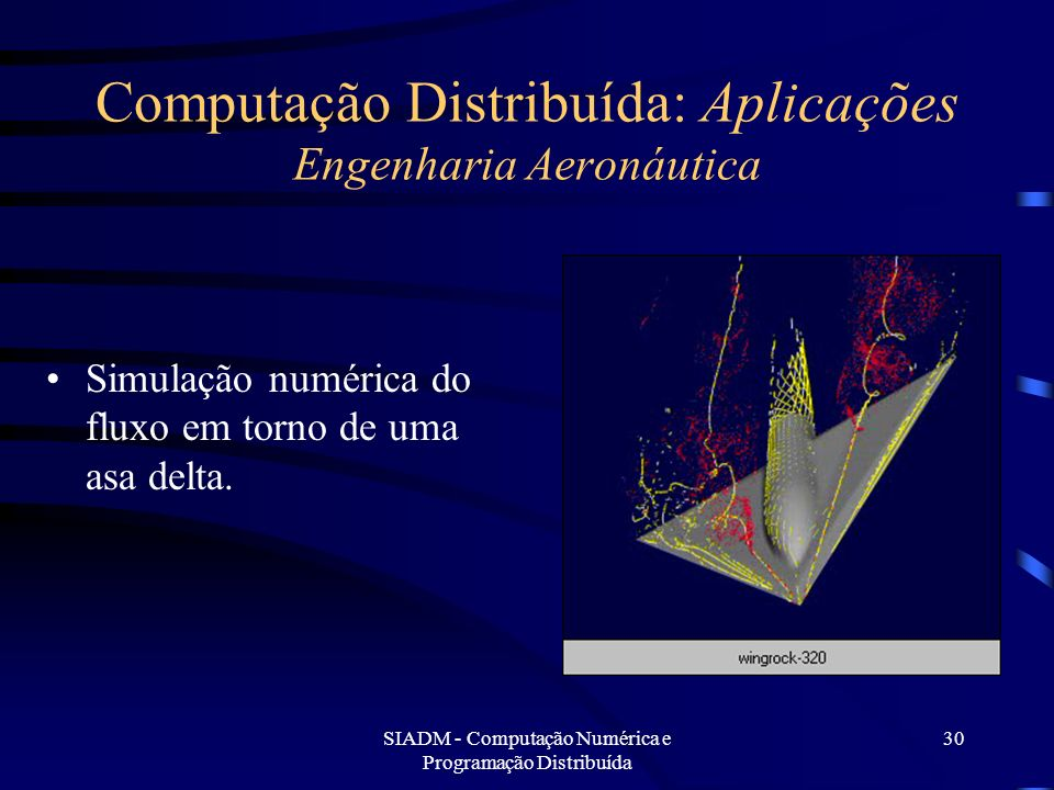 Computação Distribuída: Aplicações Engenharia Aeronáutica