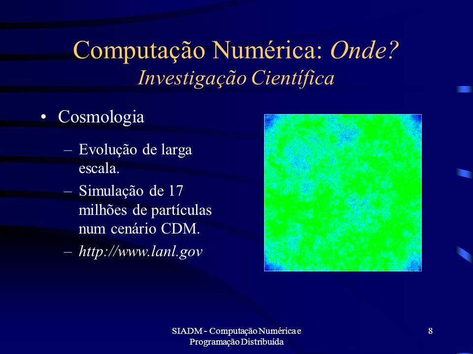 Computação Numérica: Onde Investigação Científica