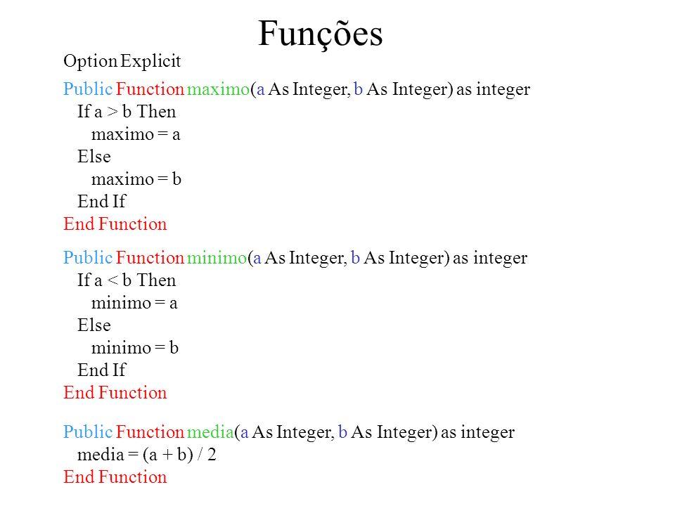 Funções Option Explicit