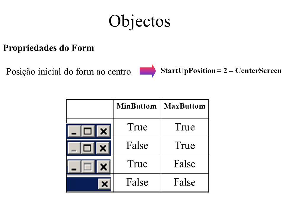 Posição inicial do form ao centro