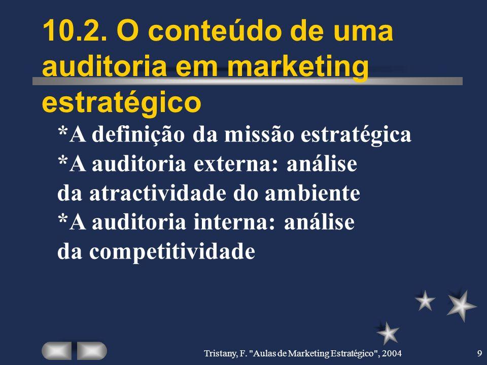 10.2. O conteúdo de uma auditoria em marketing estratégico