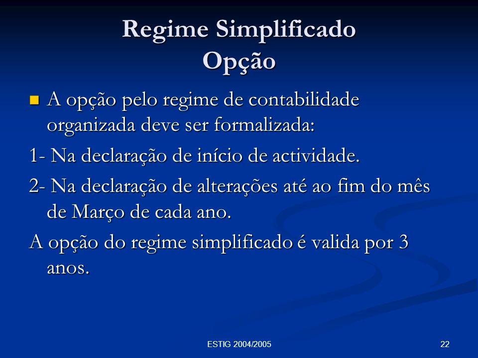 Regime Simplificado Opção
