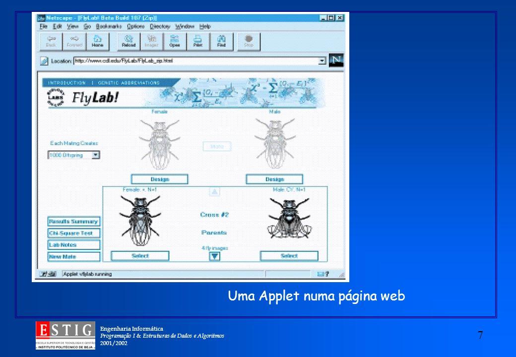 Uma Applet numa página web